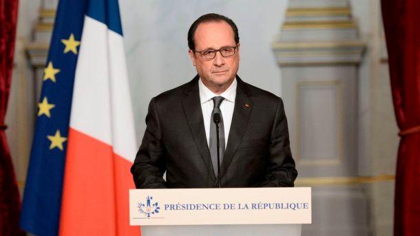 François Hollande, presidente de la República Francesa.
