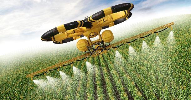 Pulverizar herbicidas y pesticidas de forma autónoma. Roombas del aire para mantener grandes áreas de cultivo controlado.
