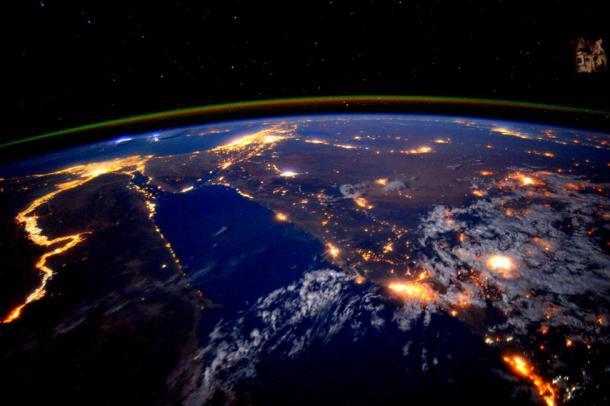 El río Nilo visto desde la Estación Espacial Internacional. Reuters | NASA.