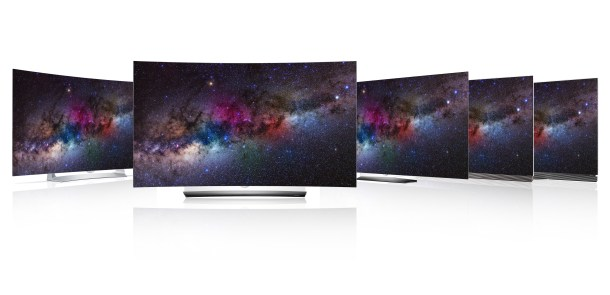 Gama de TV OLED de LG.