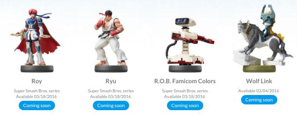 Amiibos próximamente disponibles / Nintendo