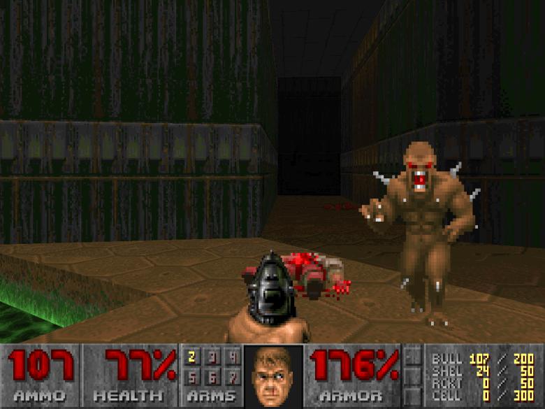 Una revolución gráfica, jugable y que marcaría para siempre la industria de los videojuegos y los eSports. Doom 1993. / id Software