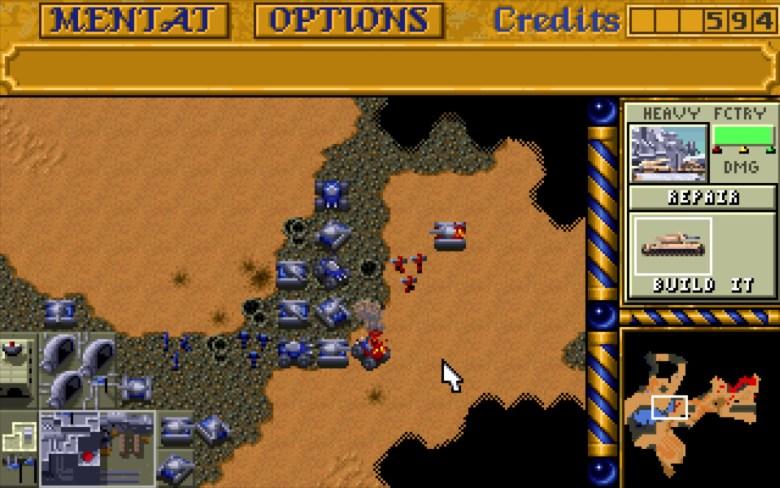 'Dune II' el primer RTS moderno de la historia que pudo desmarcarse del combate por turnos con eficacia.