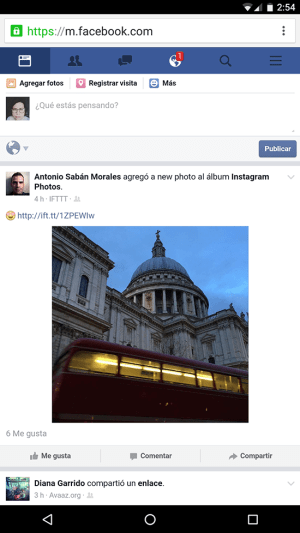 facebook para android chrome