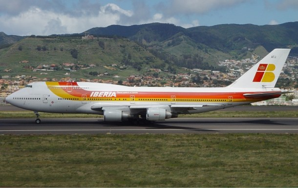 Boeing 747-300 de Iberia.