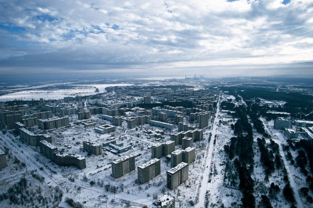Pripyat desde el aire