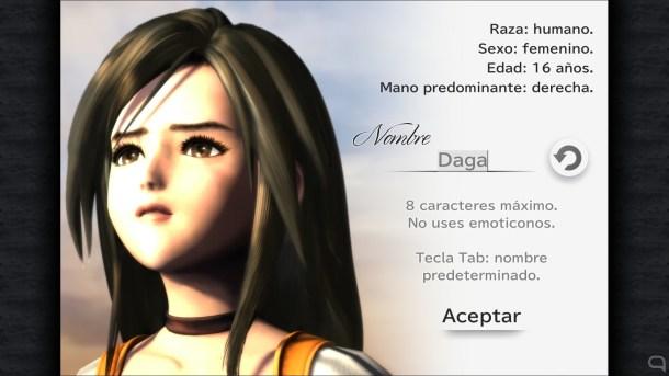 Los menús para 'bautizar' a los personajes son diseños nuevos.