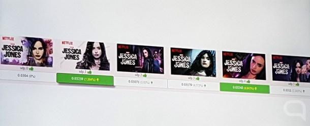Test A/B con las imágenes promocionales de Jessica Jones.