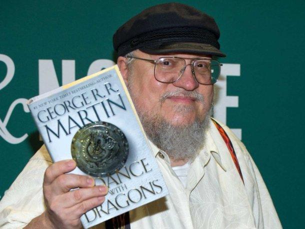 Martin en 2011, durante la presentación del quinto libro de la Saga de Hielo y Fuego.