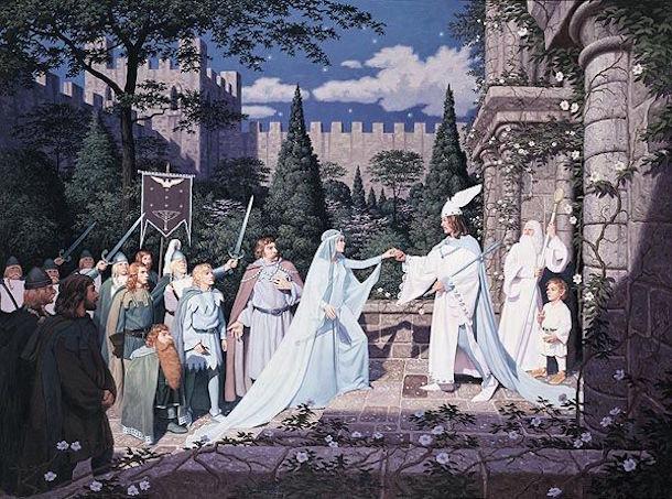 La coronación de Aragorn.