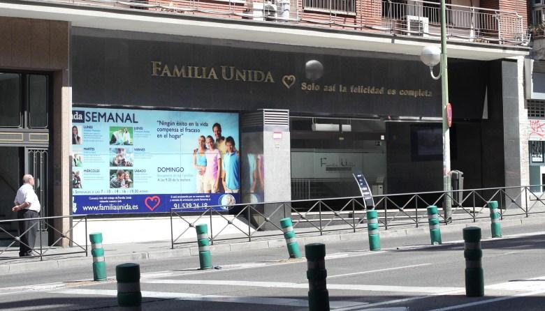 Sede de Familia Unida junto a la estación de Atocha, en Madrid.