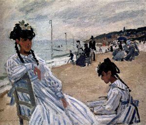 En la playa de Trouville, Monet