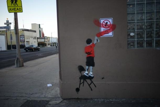Graffiti is a crime.