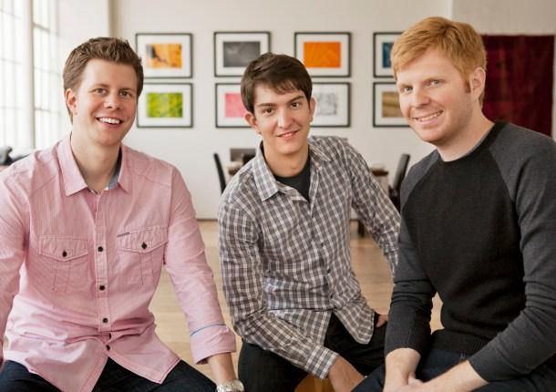 Fundadores de Weebly: David Rusenko, Chris Fanini, y Dan Veltri