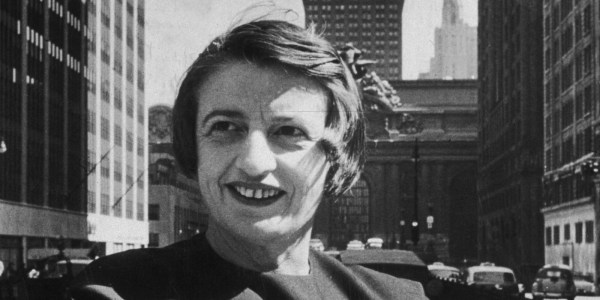 Russian-born American author and philosopher Ayn Rand.