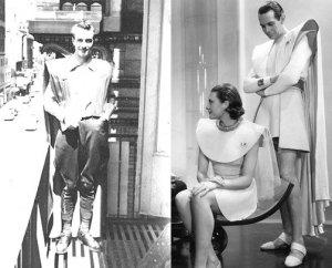 Forrest J. Ackerman and Myrtle R. Douglas's futuristicostume.