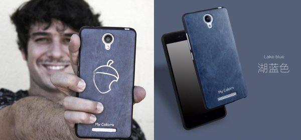 """En una foto para El Español, Unai muestra un """"nuevo diseño"""" de smartphone. En realidad se trata de una carcasa de un proveedor chino."""