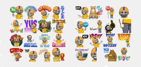 Un ejemplo de emojis creados con Bitmoji