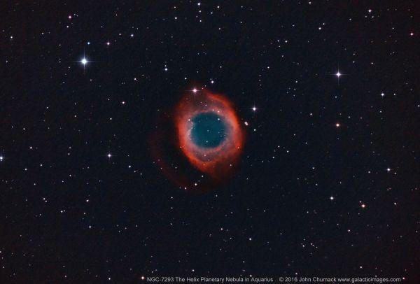 John Chumack. Nebulosa de la Hélice, captada desde Dayton, Ohio en septiembre