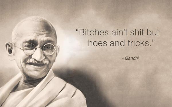 Todos sospechábamos que Gandhi ocultaba algo.
