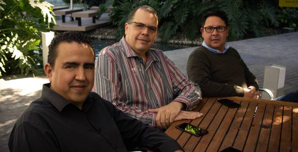 Héber Lazcano, Roberto Bargagli y Eric Núñez