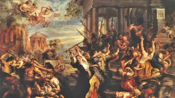 La última versión de La masacre de los inocentes. Pinacoteca Antigua de Múnich.