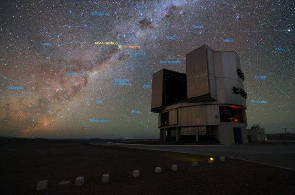 Ubicación de Alfa Centauri. Imagen: ESO.