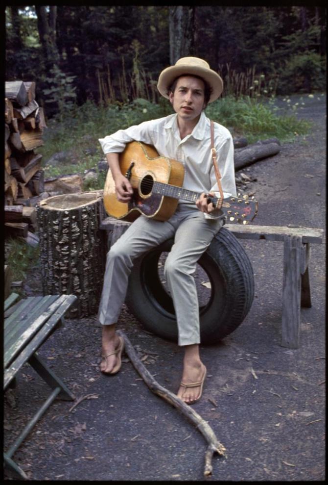 Bob Dylan a los 26 años. Imagen: Elliot Landy.