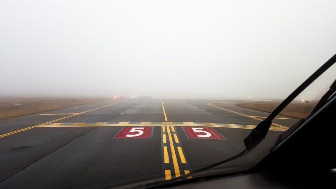 niebla avión