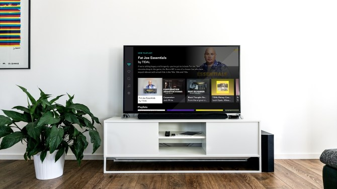 Tidal en una Samsung Smart TV