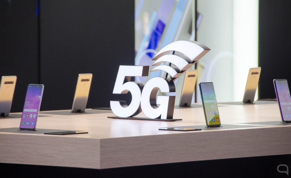 Stand del Galaxy S10 5G durante el MWC 2019