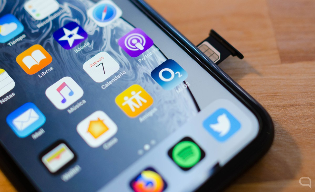 Tarjeta SIM en un iPhone con O2