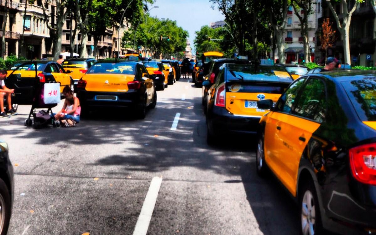 manifestación taxis barcelona