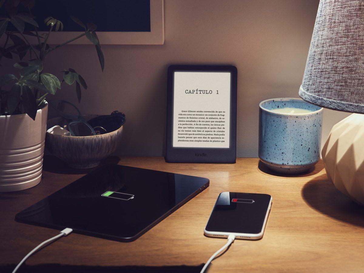Kindle en una mesa