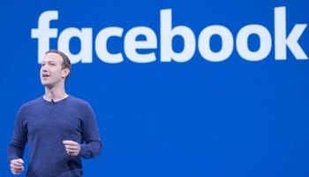 Mark Zuckerberg en una conferencia de Facebook