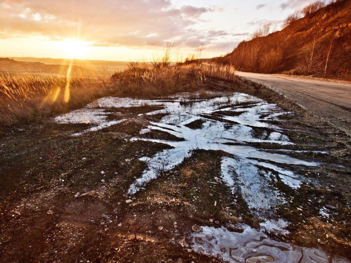 Barro en la carretera