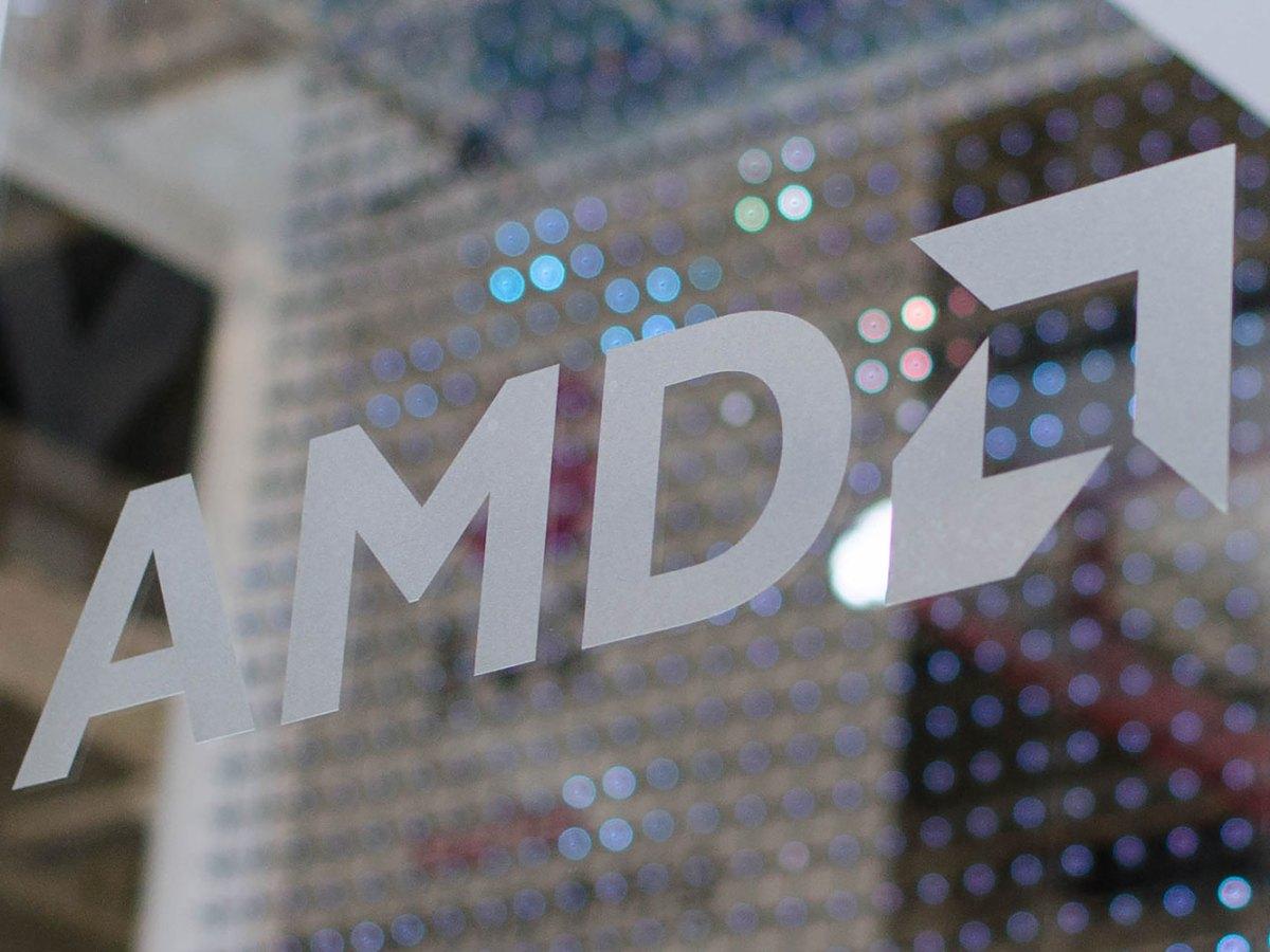 Logo de AMD durante el Computex 2019