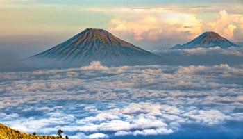 Erupción Volcán Ilopango
