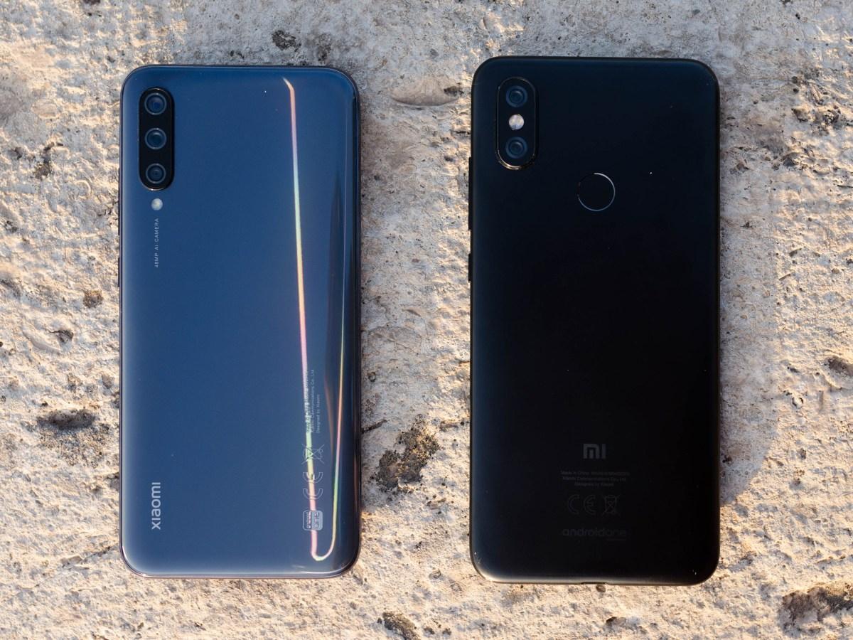 Xiaomi Mi A3 vs Xiaomi Mi A2 trasera