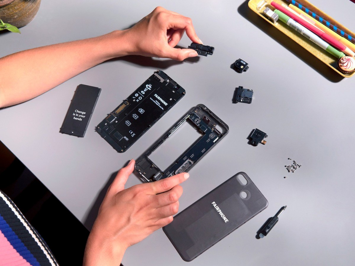 Piezas del Fairphone 3