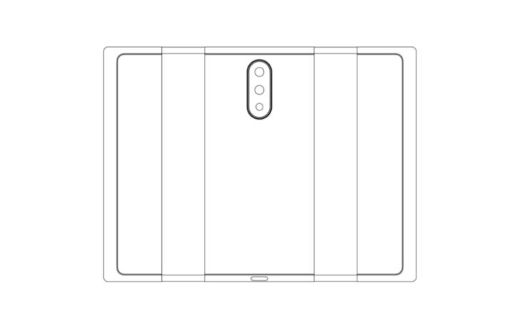 Smartphone plegable de Xiaomi - Esquema