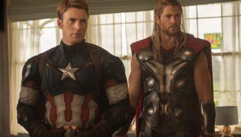 Steve Rogers/Capitán América y Thor en Avengers: Endgame