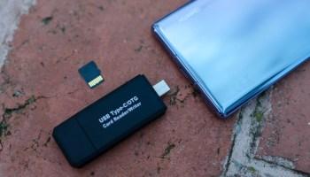USB OTG y microSD junto al Huawei Mate 30 Pro