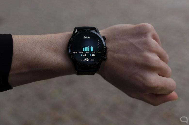 Medición de estrés en el Huawei Watch GT 2
