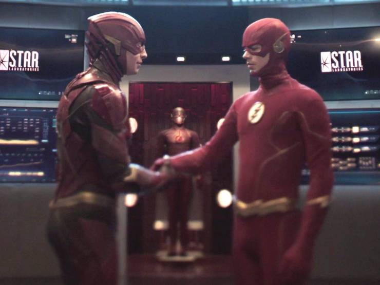 Ezra Miller y Grant Gustin / The Flash