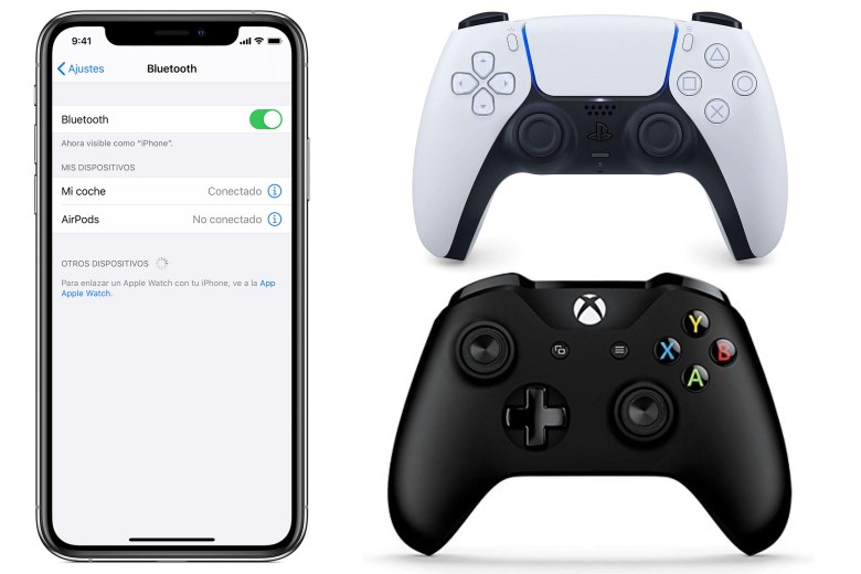Jugar con iPhone - Mando PlayStation 5 - Mando Xbox One X