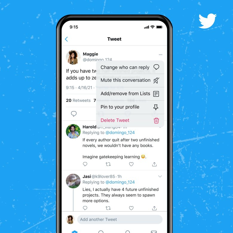 Twitter now lets you choose who can reply to a tweet