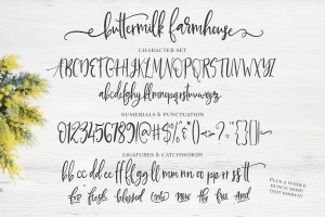 Buttermilk Farmhouse Typeface full