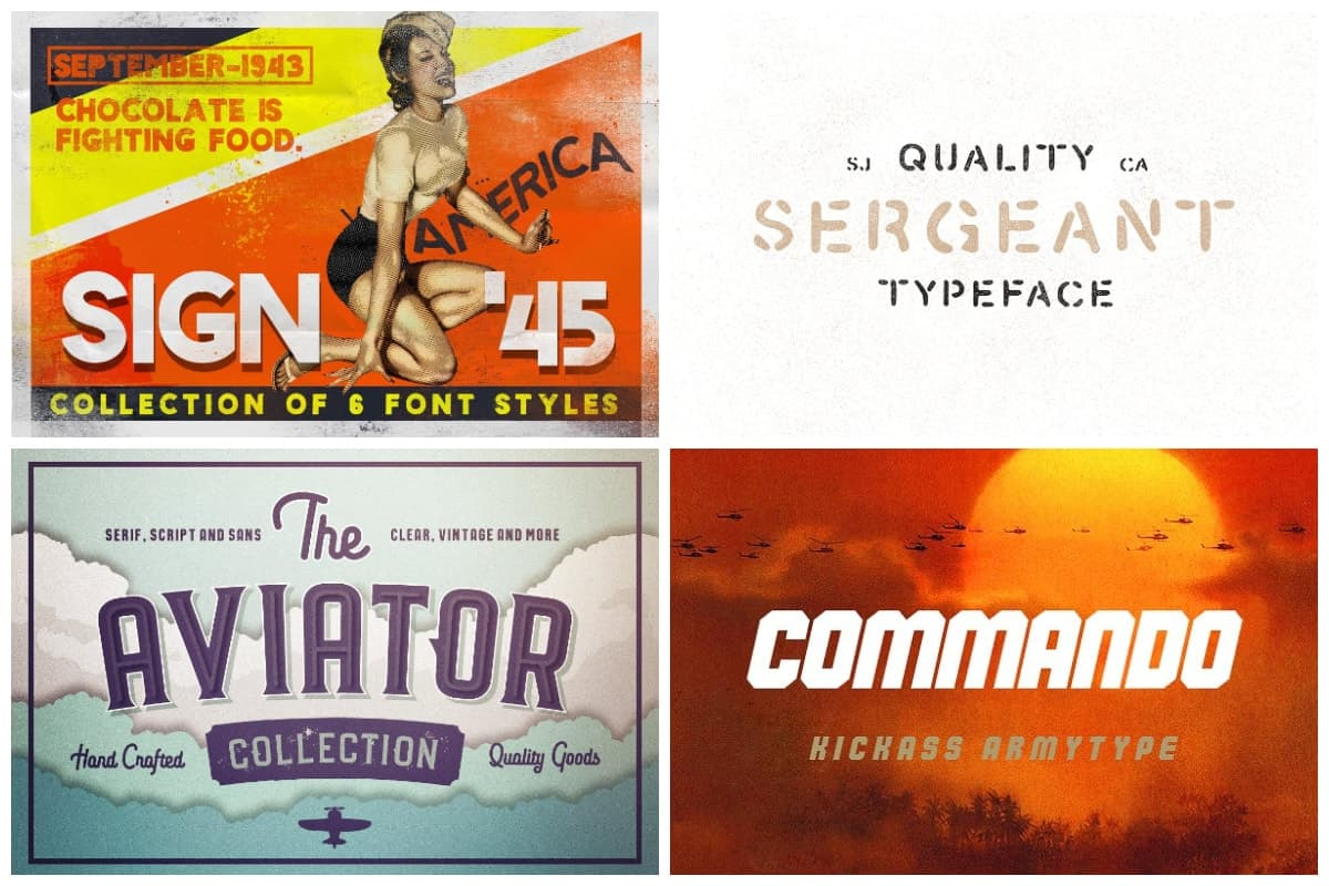 20 Amazing Fonts Inspired By The Military Of Past And Present Hipfonts