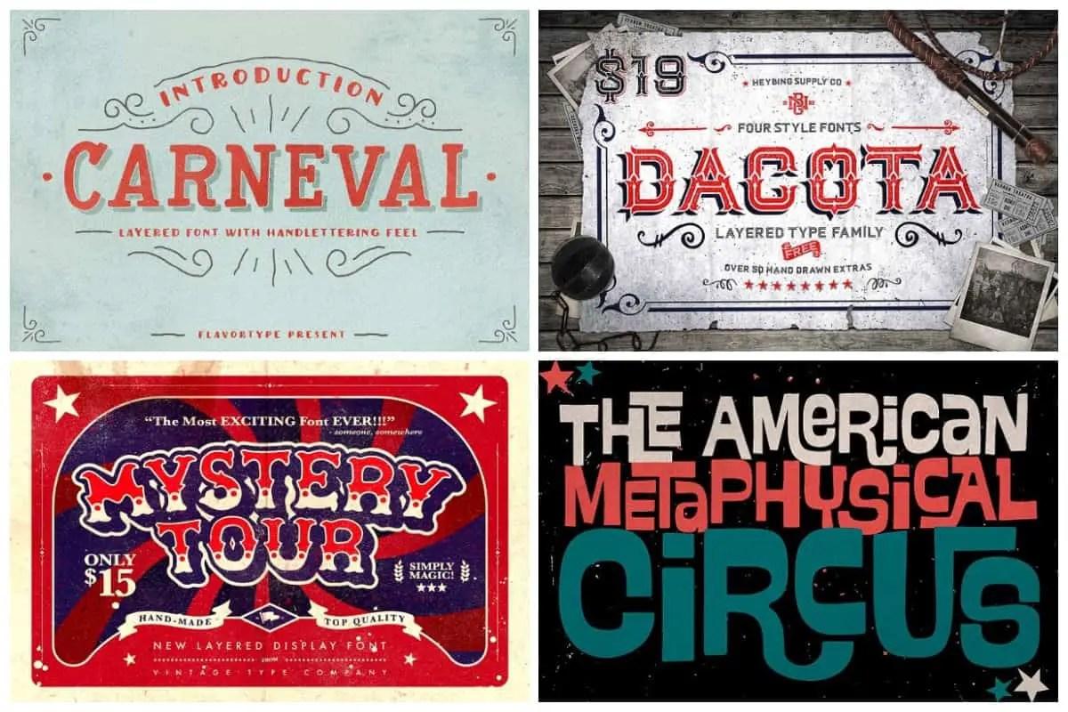 Circus Typefaces